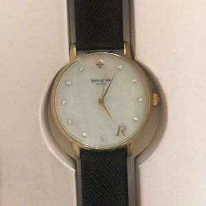 Kate Spade Monogramed Letter R Watch